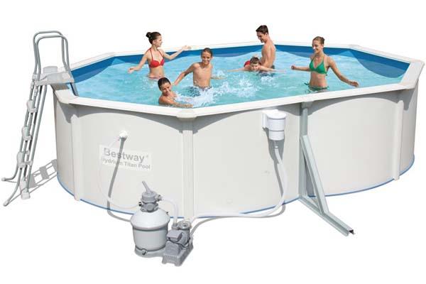 piscine acier Bestway ovale hydrium