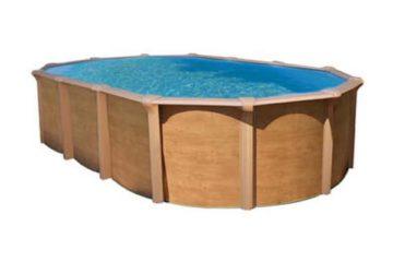 piscine acier aspect bois Osmose