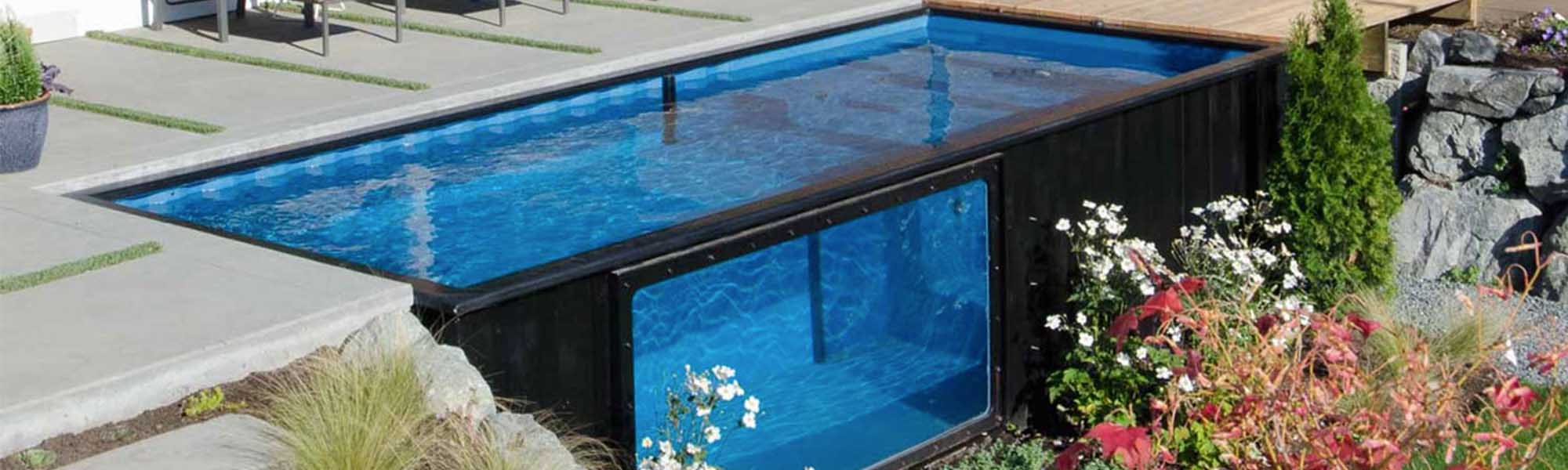 piscine container un ovni dans votre jardin conseil. Black Bedroom Furniture Sets. Home Design Ideas