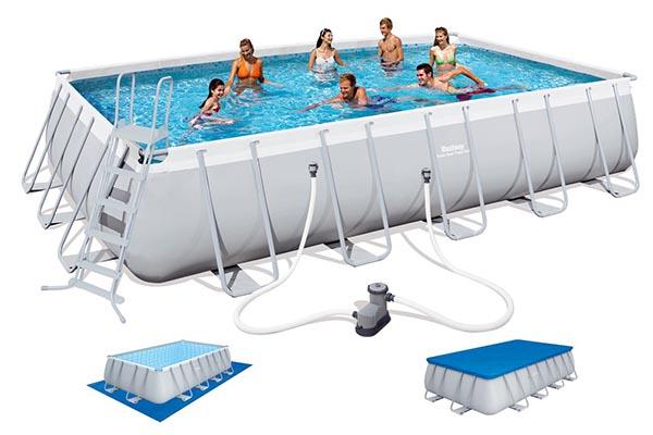 piscine tubulaire Bestway rectangulaire