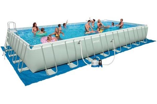 piscine tubulaire Intex Ultra Frame rectangulaire