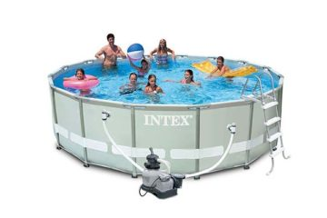 piscine tubulaire Intex Ultra Frame ronde