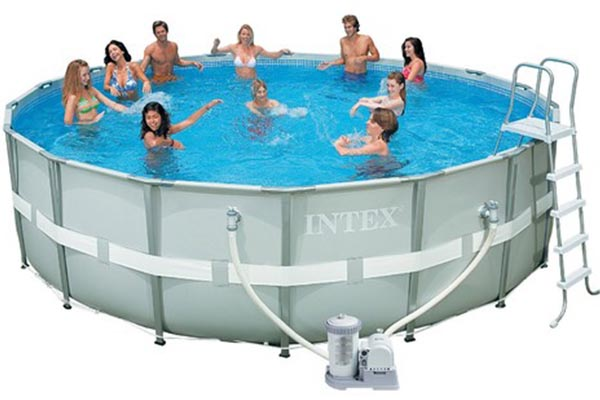 piscine tubulaire Intex frame ultra rotonda