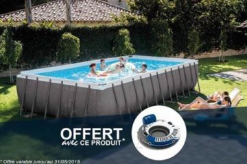 piscine tubulaire Intex grande Ultra Silver rectangulaire