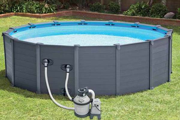 piscine tubulaire Intex graphite ronde