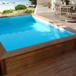 Mini piscine bois rectangle HabitatetJardin Toledo
