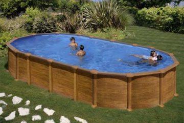 piscine acier aspect bois Gré Amazonia