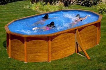 piscine acier aspect bois Gré Silicia