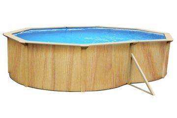 piscine acier aspect bois HabitatetJardin Caracas