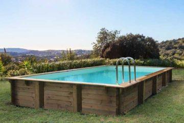 piscine bois HabitatetJardin rectangulaire Sunrise