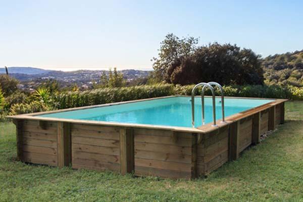 piscine bois rectangulaire HabitatetJardin Kolanta